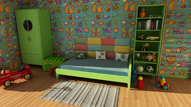 buntes Kinderzimmer