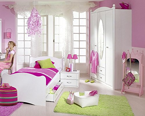 rauch kinderzimmer jugendzimmer lilly 4 tlg komplett set in weiss. Black Bedroom Furniture Sets. Home Design Ideas